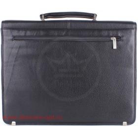 Портфель искусственная кожа Cantlor-W 417-01,    7отд,    1внеш+1внут карм,    карандашник,    портфельный замок,    черный