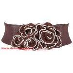Ремень-резинка 360-5282 шир 7,   5см,    коричневый