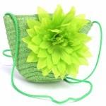 """Сумка женская текстиль 669-669 """"  Цветочек"""" ,    зеленый"""
