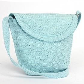 Сумка женская текстиль 669-F 20,     1отд,    голубой