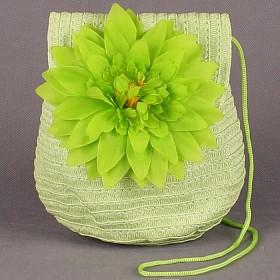 """Сумка женская текстиль 669-66911 """"  Цветок"""" ,    1отд,     зеленый"""