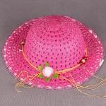 """Шляпа детская текстиль    (D=28см)    """"  Лапушка""""   809-3,     размер 56-58;    возраст 12 лет,    розовый"""