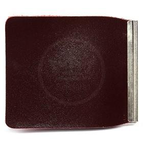 Зажим для купюр Premier-Z-1    (зажим-скрепка)    натуральная кожа бордо гладкий   (82)