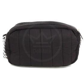 Сумка женская текстиль DJ-5218-1-BLACK,    1отд,    плечевой ремень,    черный SALE