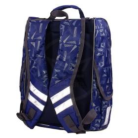 Рюкзак Shveika-118,    жесткое эргоном спинка,    1отд+перег,    3внеш карм,    синий,    рисунок