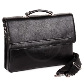 Сумка мужская искусственная кожа BF-ST 98336-6В,    5отд,    2внеш+3внут карм,    плечевой ремень,    черный