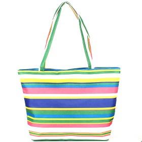 Комплект 118   (сумка пляжная+панама)    текстиль 067-HJ-147,    1отд,    полоска голубой