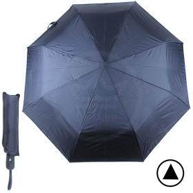 Зонт муж F 308SL,    R=56см,    полуавт;    8спиц-сталь+fiber;    3слож;    полиэстер,    синий