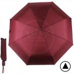 Зонт женский F 308SL,    R=56см,    полуавт;    8спиц-сталь+fiber;    3слож;    полиэстер,    бордовый