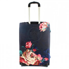 """Чехол для чемодана 24-M""""     (24""""  -70л) ,    полиэстер 100%,       (Цветы)    черный"""