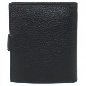 Портмоне мужское с хлястиком натуральная кожа «Baku»-PM.4.BK.,    2отд,    4карм,    черный