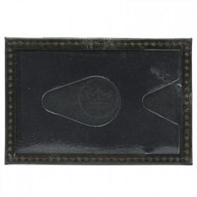 Обложка пропуск/карточка/проездной Croco-В-200 натуральная кожа зеленый пулл-ап   (205)