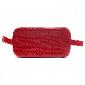 Футляр для ключей-FNX-КЛВ-104 натуральная кожа красный питон   (4356)